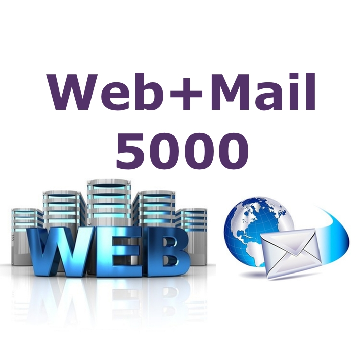 Web+Mail5000 Email and Web Hosting (Annual Fee)